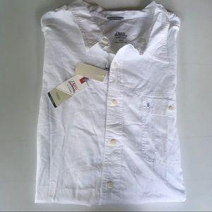 New IZOD Men 3XL White Button down Big/Tall Shirt